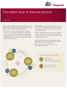 Added Value of Financial Advisors